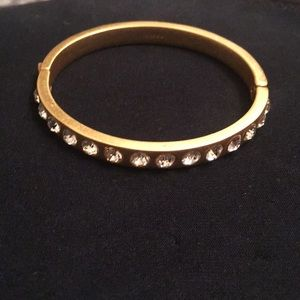 New J Crew gold bangle with crystals